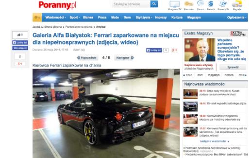 Ferrari w Białymstoku